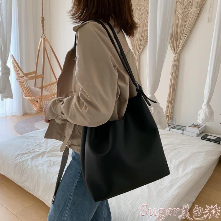 子母包 大包包女簡約側背包大容量女包2020新款撞色高級感洋氣斜背子母包 新年新品全館免運