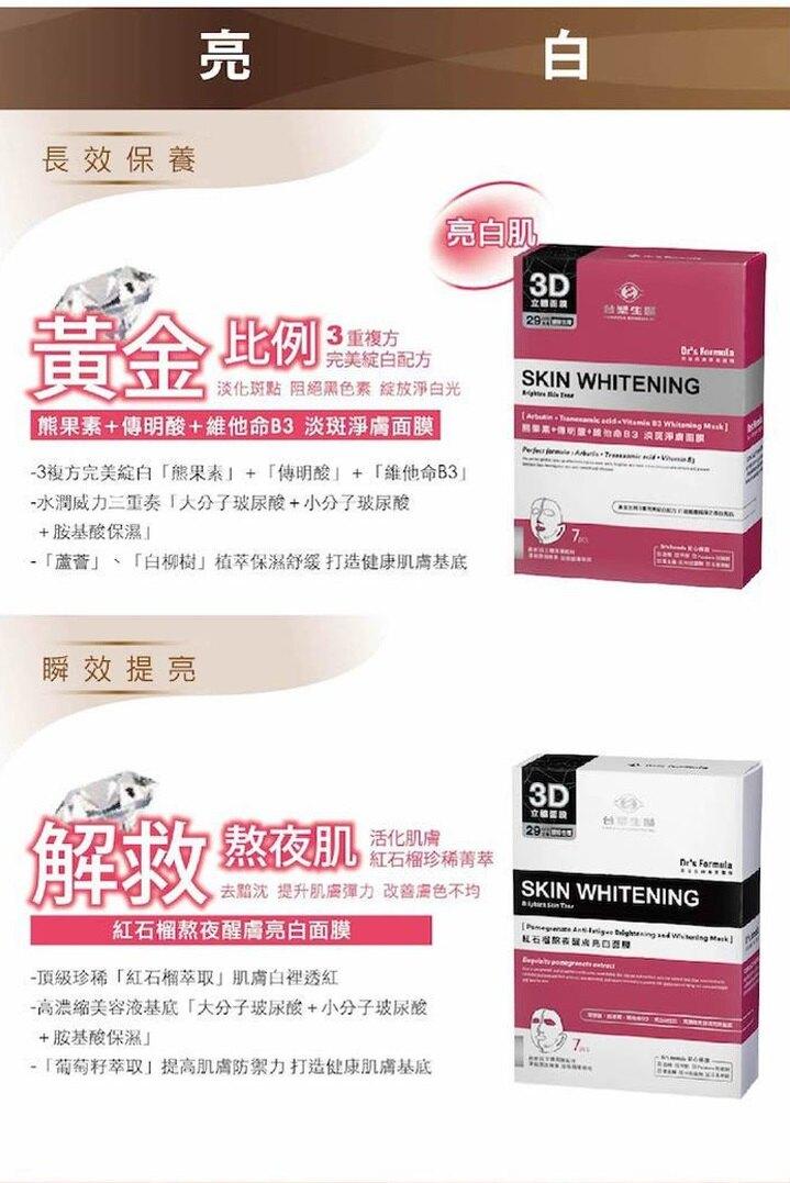 《買一送一》台塑生醫 熊果素淡斑淨膚面膜(7片/盒) 熱賣款【購購購】