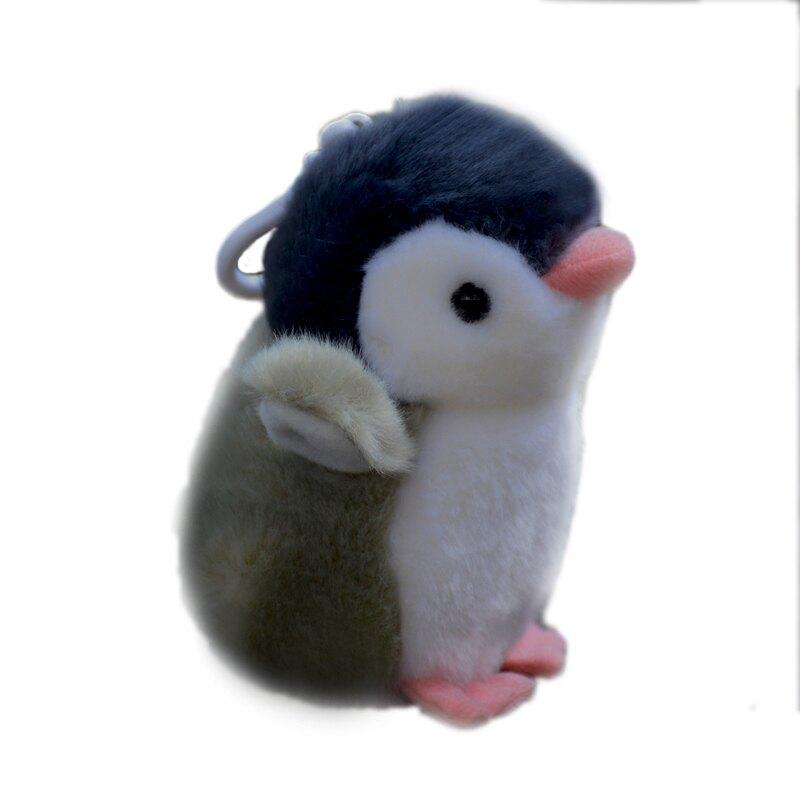 企鹅包掛可愛發聲企鹅毛絨公仔鑰匙扣玩具禮物♠極有家♠