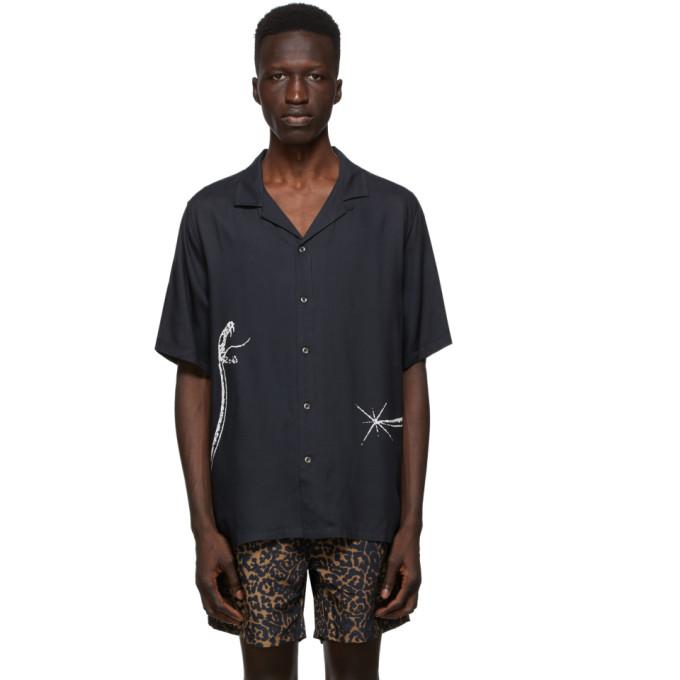 Ksubi 黑色 Serpent 短袖衬衫