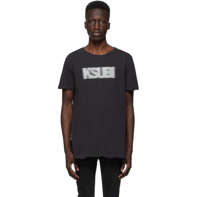 Ksubi 黑色 Bitmap T 恤