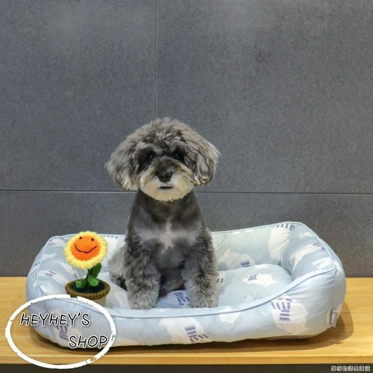 韓國原單夏天涼感窩狗窩降溫冰絲墊寵物狗狗貓咪涼墊雪納瑞泰迪 雙十二全館免運