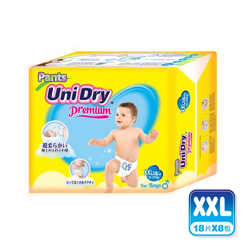 Unidry優力褲 嬰兒褲型紙尿褲(男孩)-XXL108片(18片x6包)/組合購 贈白蘭植萃洗碗精1包