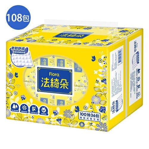 法綺朵抽取式衛生紙100抽108包(箱)【愛買】
