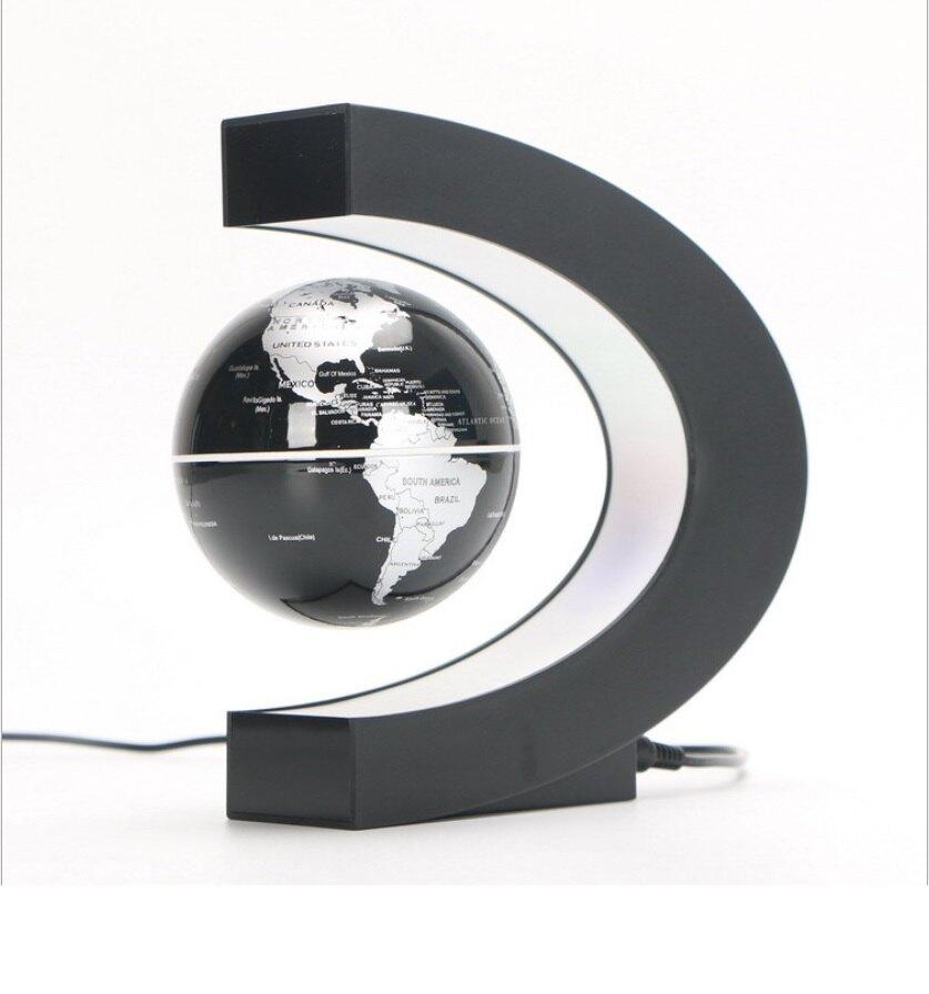 C形磁懸浮地球儀 球體發光 高檔發光自轉磁懸浮地球儀 3吋現 貨在台灣