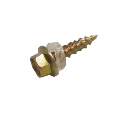 六角頭自攻牙螺絲 12#x 3/4(200支)鍍鋅 刃牙 木工螺絲 六角頭尖尾螺絲 割尾攻牙