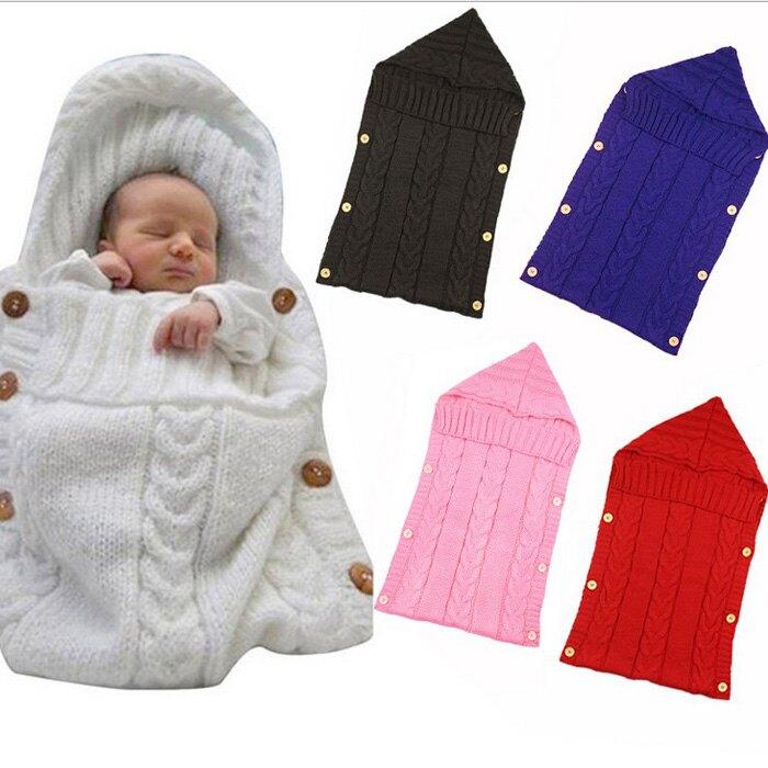 糖衣子輕鬆購【AS0253】嬰兒寶寶推車睡袋針織睡袋保暖包巾攝影道具