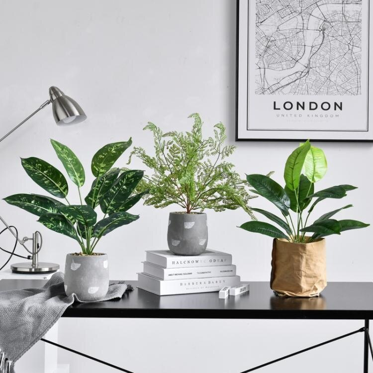 室內裝飾ins風龜背葉仿真植物盆栽擺件假花綠植盆景家居客廳擺設  聖誕節狂歡購