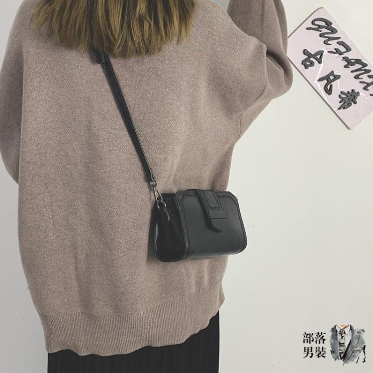 斜背手機包 質感小包包女包2020新款潮復古手機包百搭定型小方包單肩斜背包女