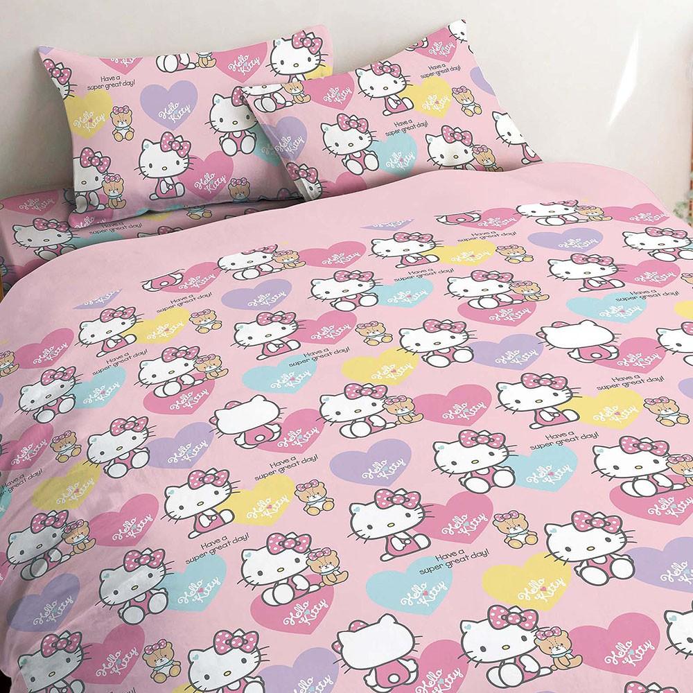 HELLO KITTY 小熊好朋友 精梳棉 單人 雙人 床包組 涼被 兩用被 正版授權 台灣製造