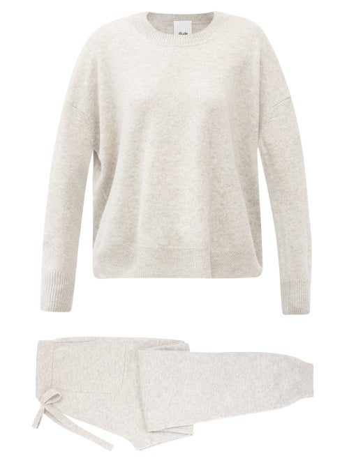 Allude - Cashmere Lounge Set - Womens - Light Grey