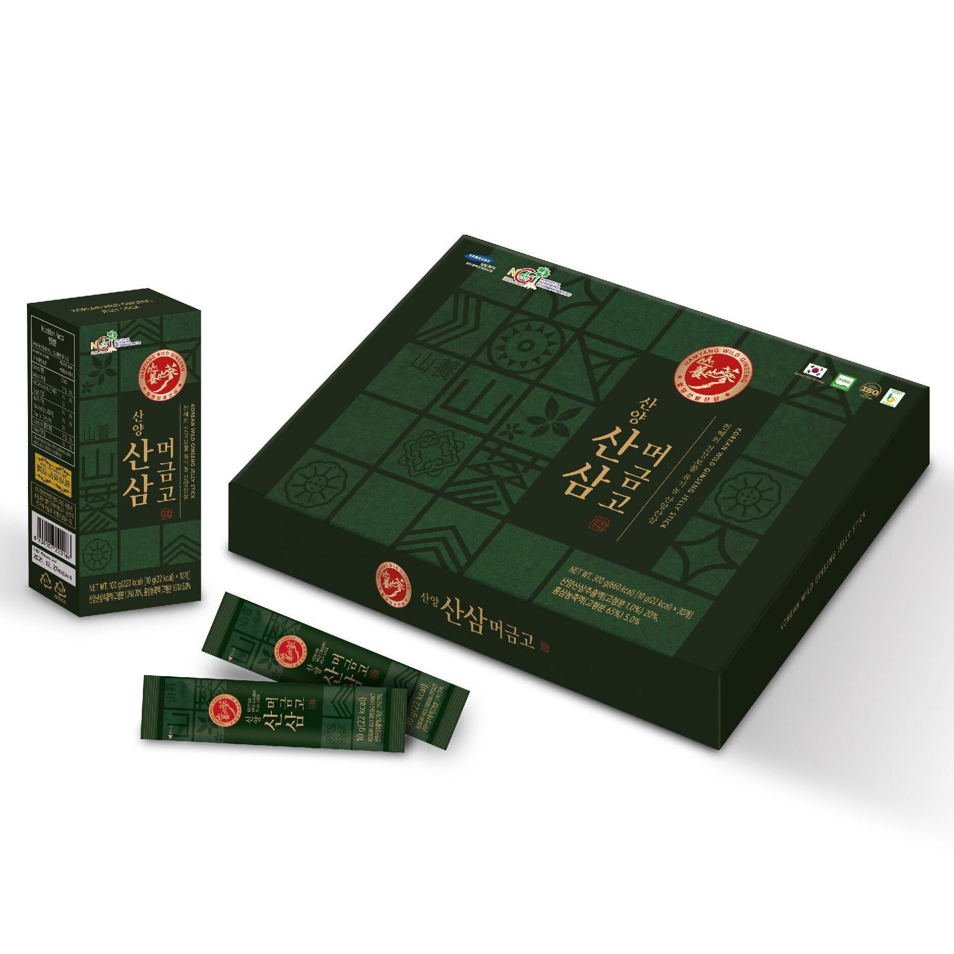 咸陽山養蔘 山養蔘凍飲 1條 10g  30條/盒