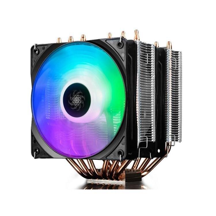 散熱器 九州風神 大霜塔 RGB台式 CPU散熱器 風扇i5 i7全銅6熱管 雙風扇AQ