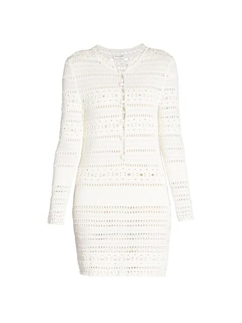 Jane Crochet Mini Dress