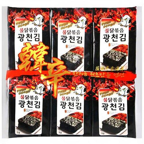 HANXIN韓辛蜜汁辣雞海苔60G【愛買】