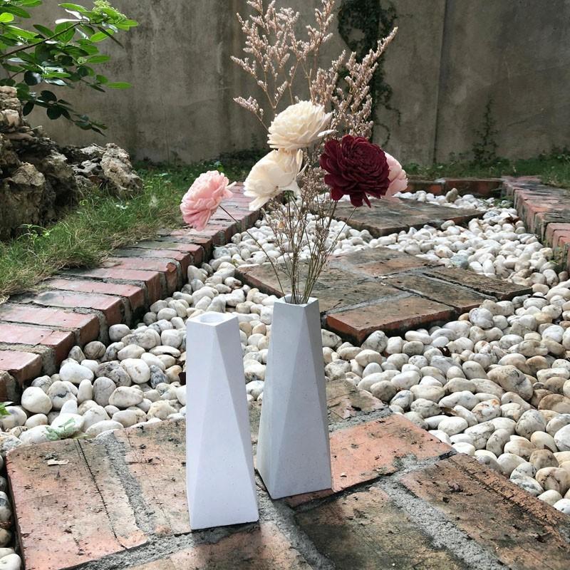 (beagle) 正方幾何創意水泥花瓶 乾燥花水泥花器/永生花泥花瓶/北歐現代簡約家飾