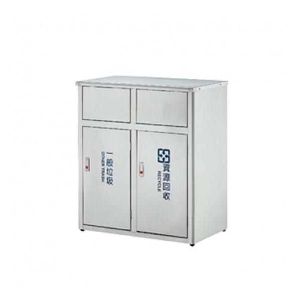 二分類不鏽鋼垃圾桶 推板式 / 台 ST2-90