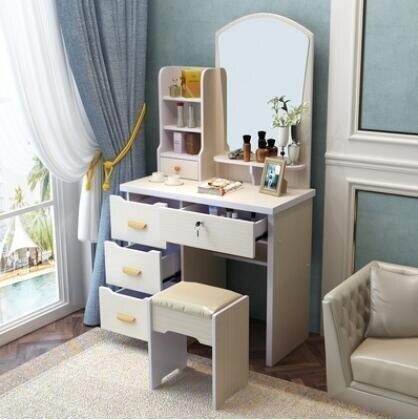梳妝臺臥室現代簡約多功能化妝桌網紅ins經濟型小戶型ATF --小城故事推薦