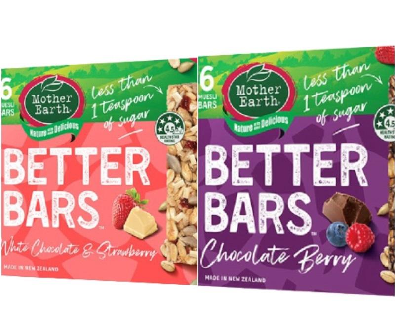 [紐西蘭 Mother Earth] 營養好棒棒 (180g/盒) (奶素) 3盒 綜合(草莓牛奶*2+巧克力*1)