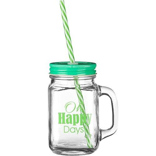 《Premier》梅森玻璃杯(歡樂綠450ml)