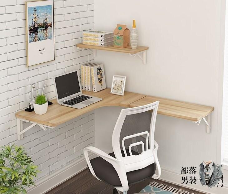 折疊壁桌 壁掛折疊桌牆壁掛桌轉角餐桌連壁桌支架折疊餐台電腦牆桌T