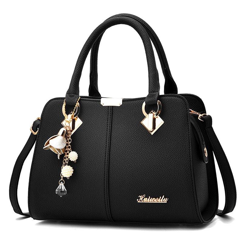 手提包包新款潮側背斜背包時尚百搭中年女士大容量媽媽包女包