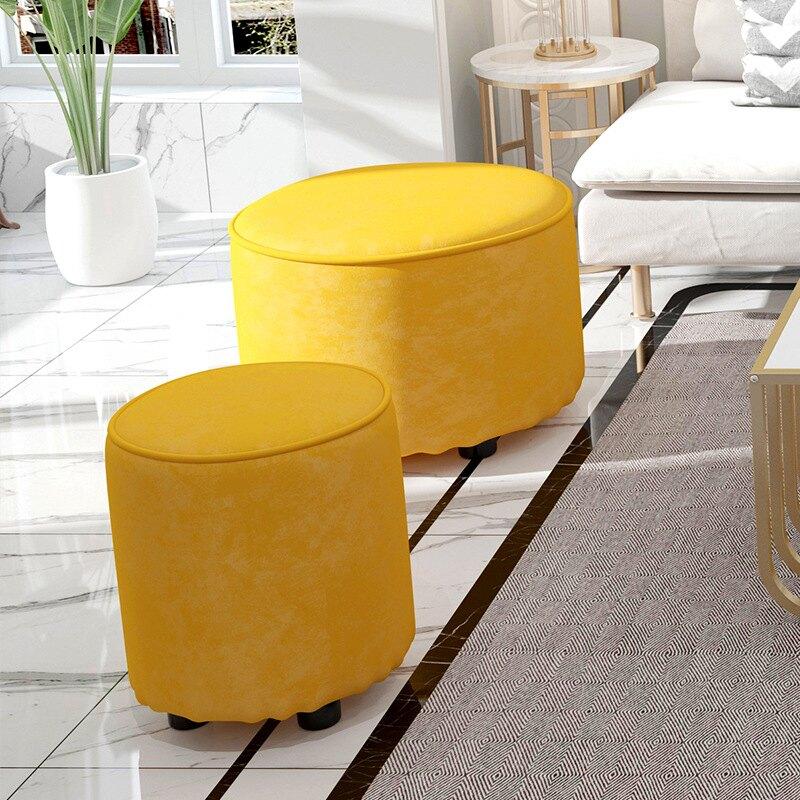 【現貨】簡易換鞋凳家用門口穿鞋凳客廳現代簡約沙發凳子時尚創意圓凳矮凳 【交換禮物】