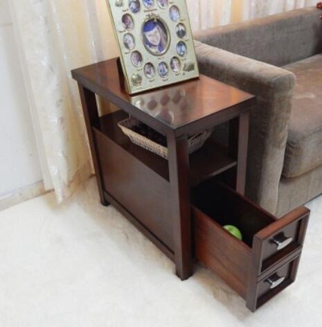 美式沙發邊幾角幾客廳小茶幾邊櫃儲物櫃置物架邊桌床頭櫃小桌子