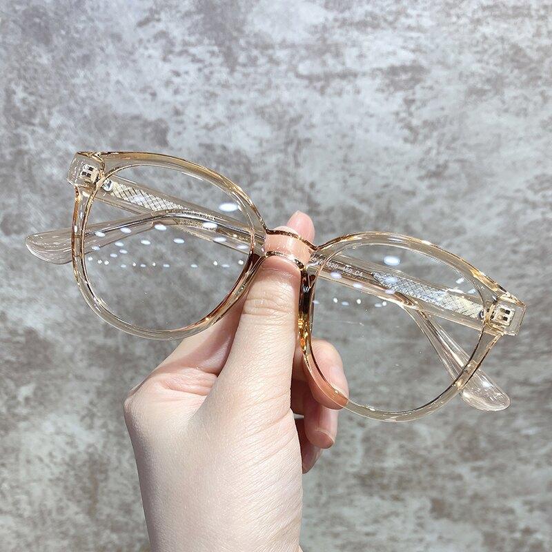 鏡架 大臉眼鏡女圓框可配ins風復古網紅款素顏顯臉小正韓潮男『CM396815』