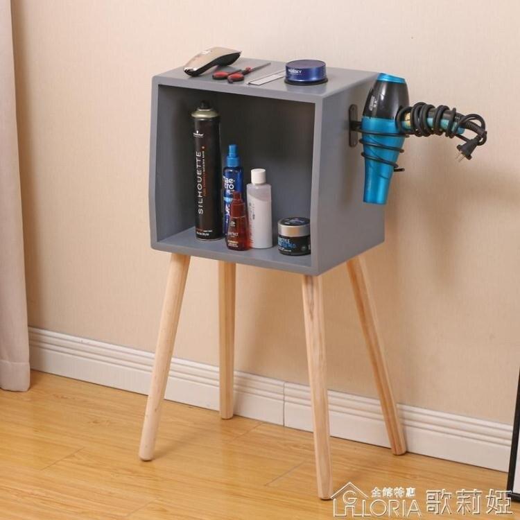 實木理發店櫃子工具台發廊專用美發店工具櫃落地工具櫃剪發鏡台櫃