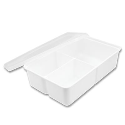 日本製分隔保鮮置物盒-3格盒-700ml-3入組