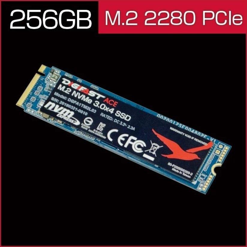 DIGIFAST Ace 256GB M.2 NVMe SSD - Gen3x4 PCIe固態硬碟