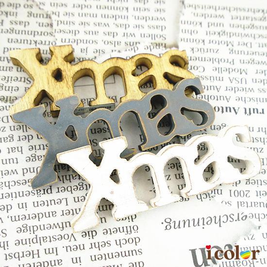 木製X'mas文字擺飾