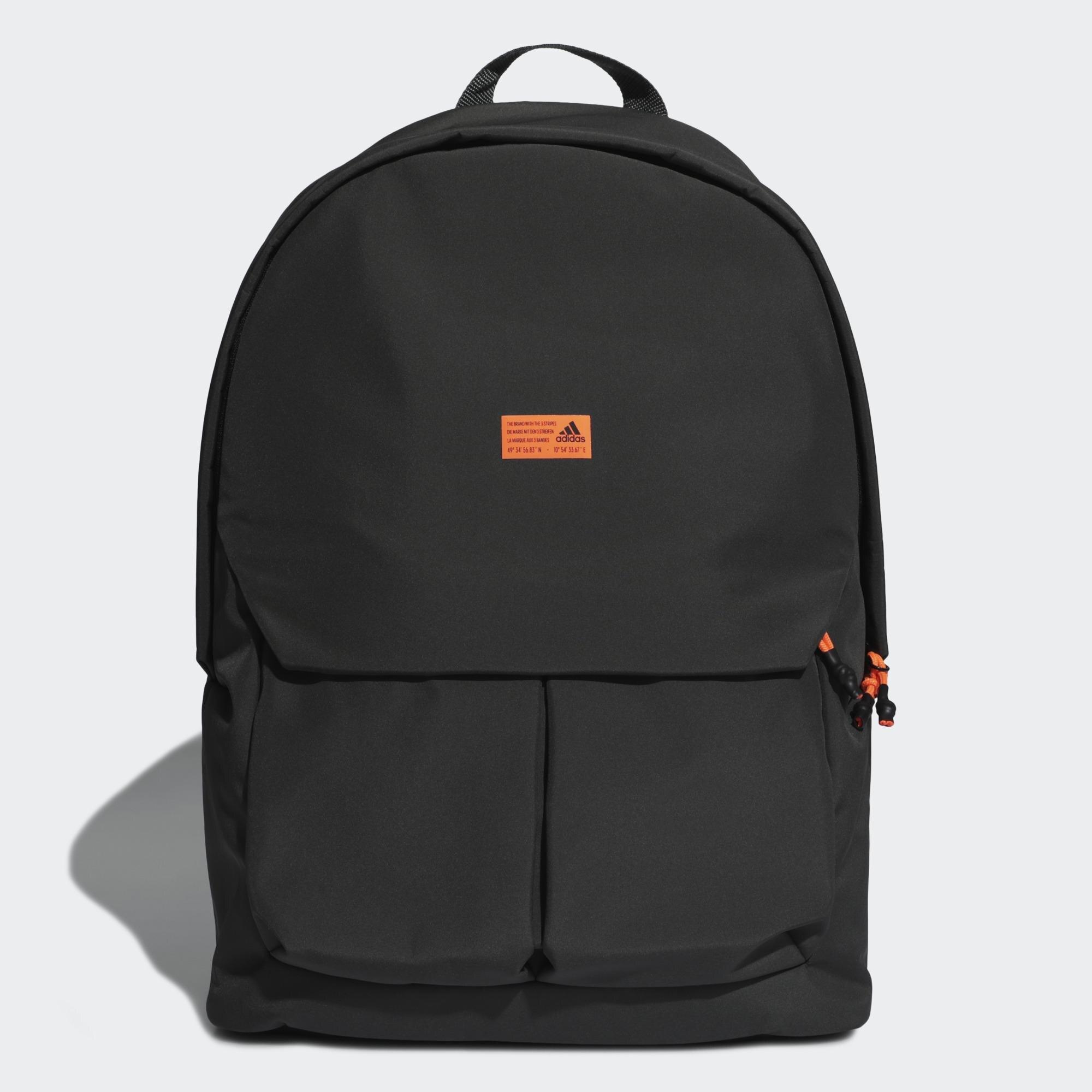 ADIDAS CLAS BP WINTER 後背包 休閒 拉鍊前袋 筆電隔層 小橘標 墨綠色【運動世界】FT9963