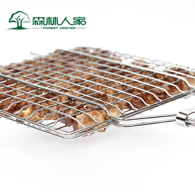 燒烤夾板網 燒烤窩窩燒烤用具烤魚夾子烤魚網燒烤夾板網燒烤拍子燒魚夾不銹鋼【xy1936】