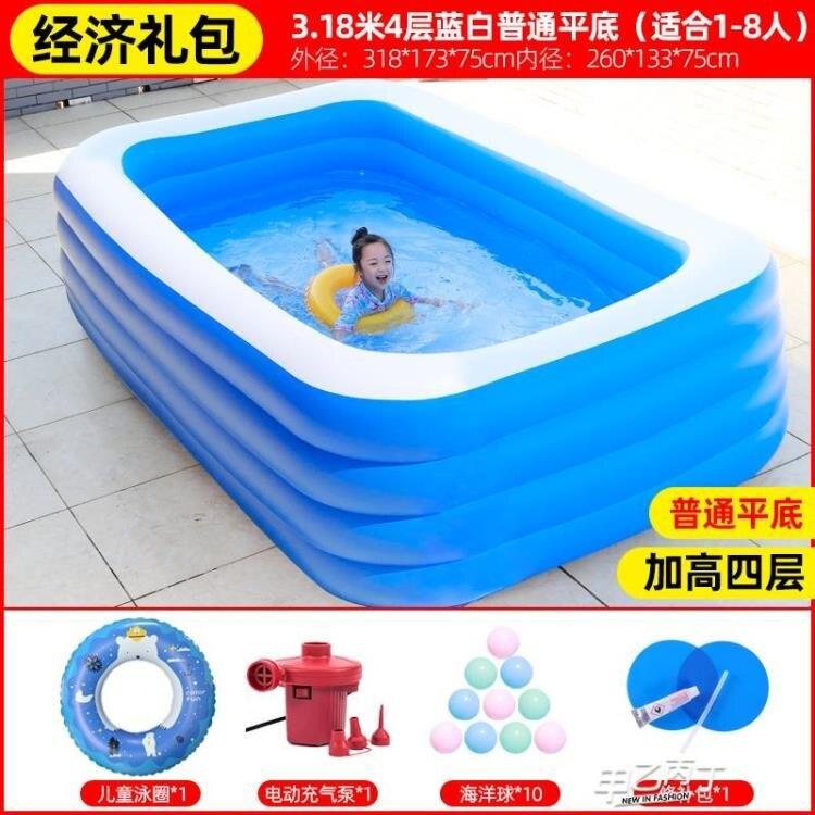 兒童游泳池 家用充氣寶寶超大家庭游泳桶大人小孩戶外大型【快速出貨】
