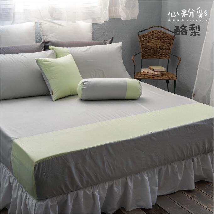 40支紗 雙人特大床包(單品賣場)共9色心粉彩 100%精梳棉 -麗塔寢飾-