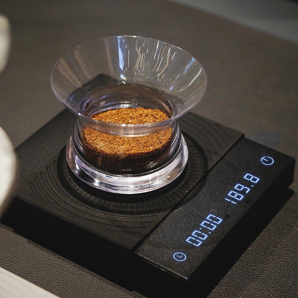 ★快速到貨★新版TIMEMORE泰摩黑鏡咖啡大師LED觸控秤重計時電子秤 -黑(自動計時/杯測計時)