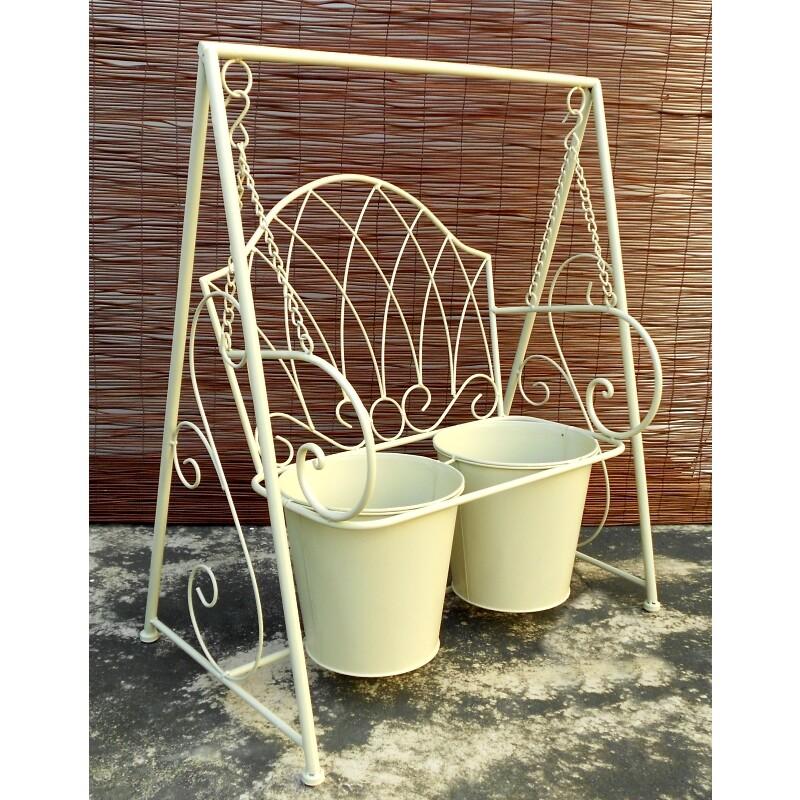 decobox陽光藝術- 刷白搖椅花架(多肉花架,婚禮會場布置)