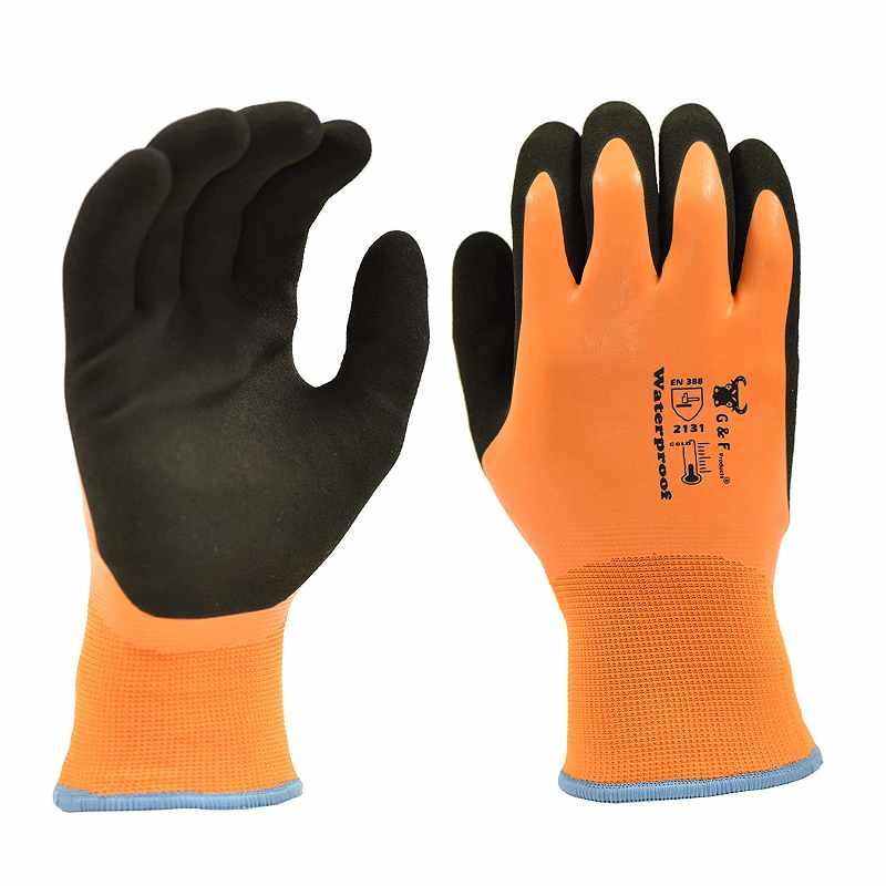G&F 防水工作手套 ANSI認證 耐磨 防穿刺 耐寒(-14度C) M/L/XL/XXL [9美國直購]