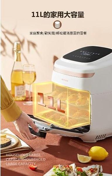 快速出貨 11L空氣烤箱 液晶觸控大容量氣炸烤箱 110V不沾氣炸鍋烤箱 (AF-602A)一年保固