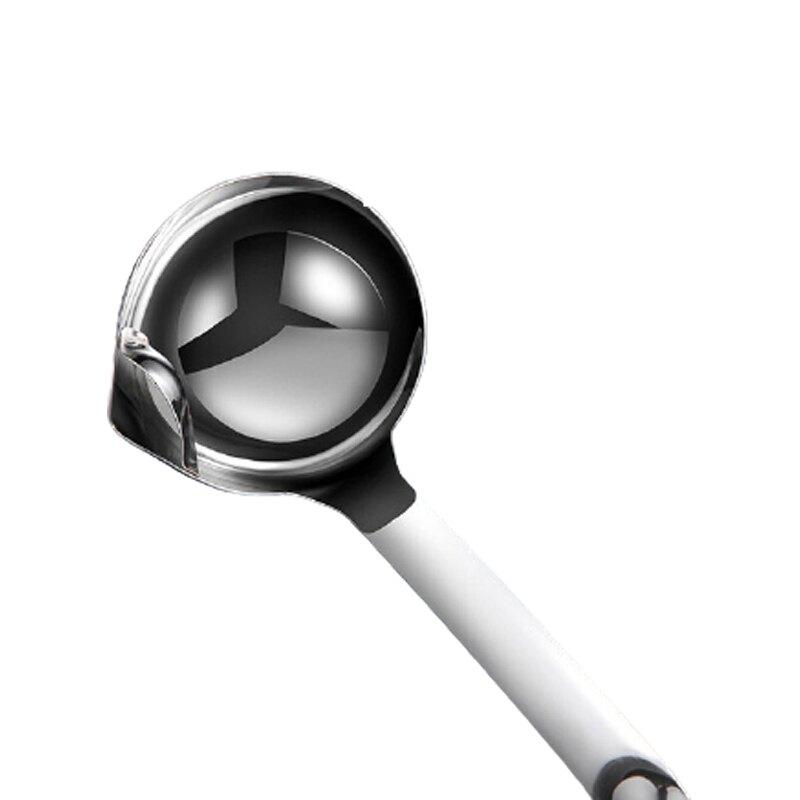 304不鏽鋼隔油湯勺 過濾湯勺 油湯分離勺 濾油勺 火鍋湯勺 隔油勺 304不鏽鋼