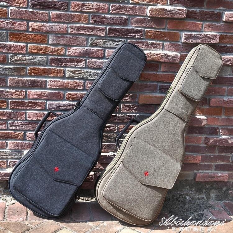 加厚後背電吉他包個性學生搖滾背包防水琴包立體琴盒琴袋yh