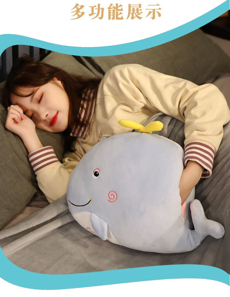 冬天暖手抱枕插手捂寶毛絨玩具冬季布娃娃可愛玩偶女生