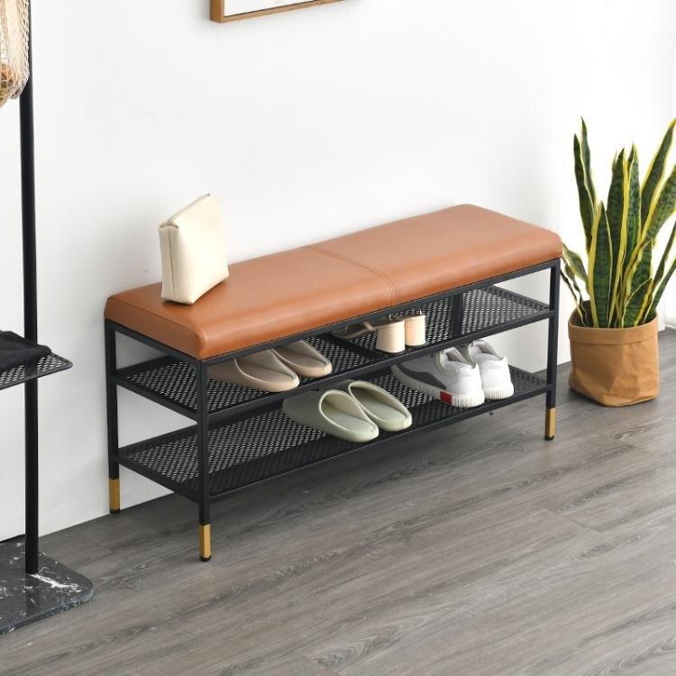北歐換鞋凳家用 門口穿鞋凳長條凳可坐式鞋櫃入戶鞋凳沙發凳子AQ