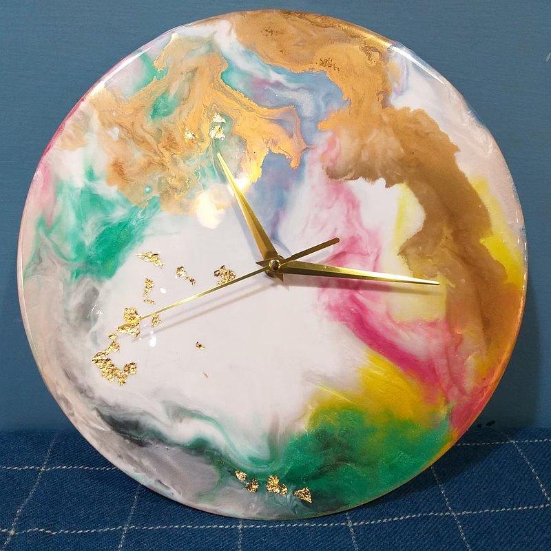 流體藝術課程-水晶流彩藝術-時鐘 / 週二到週日皆可預約 一人成團