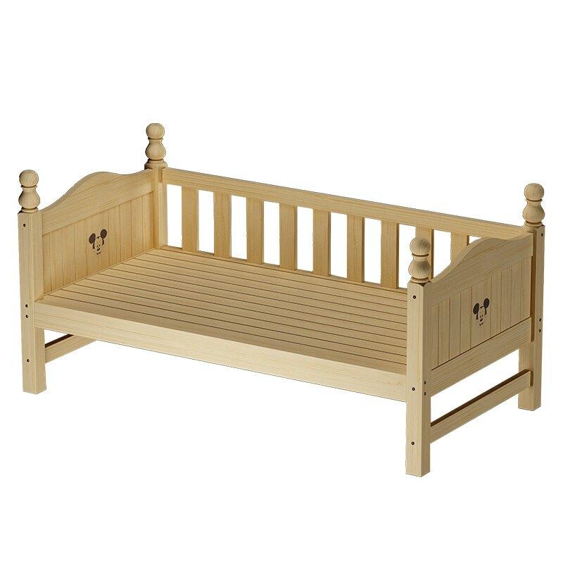 定制實木兒童床帶護欄小床小孩拼接床加寬床加長床延邊床嬰兒分床