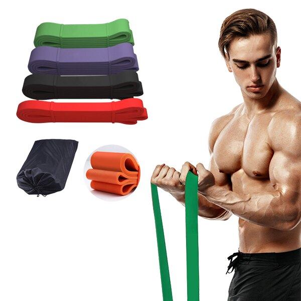 125磅綠色-磅數阻力帶 彈力帶 拉力帶 多功能環狀彈力帶 瑜珈 健身 重訓拉力繩TRX-JoyBaby
