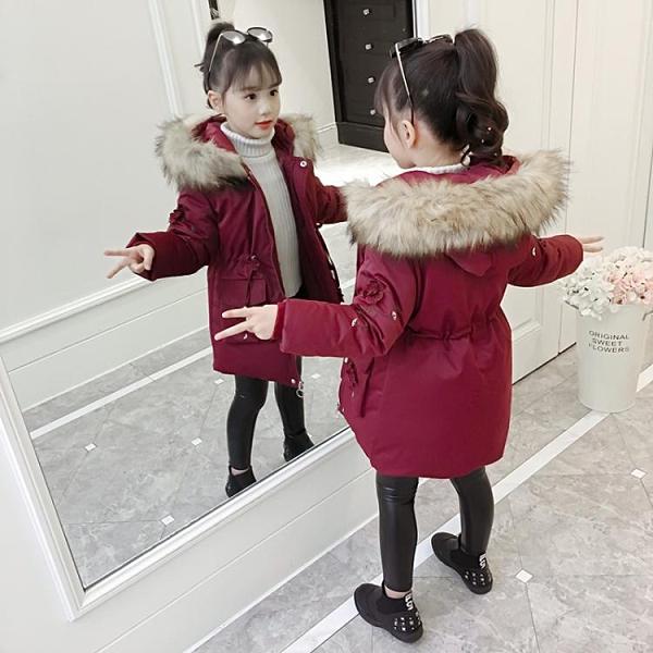 女童冬裝棉衣2021新款洋氣中大童羽絨服棉襖網紅韓版加厚秋冬外套 維多原創