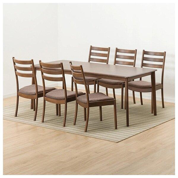 ◎實木餐桌椅7件組 N COLLECTION T-01 190 MBR 櫸木 C-07 AL NITORI宜得利家居